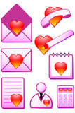 Romantic  icon. For office. Vector illustration Stock Photo