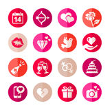 Romantic icon set Royalty Free Stock Image