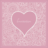 Romantic invitation Stock Photography