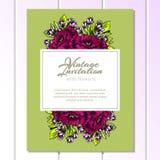 Romantic invitation Stock Images