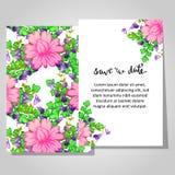Romantic invitation Stock Photos