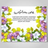 Romantic invitation Stock Image
