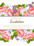 Romantic invitation Royalty Free Stock Image