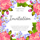 Romantic invitation Royalty Free Stock Photography