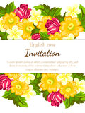 Romantic invitation Royalty Free Stock Images