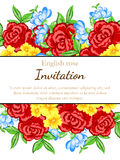 Romantic invitation Stock Photos