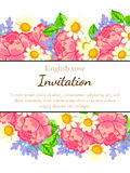 Romantic invitation Stock Image