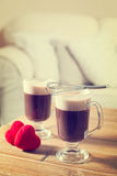 Romantic Irish Coffees Stock Photography
