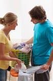 Romantic ironing couple royalty free stock photos
