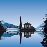 Romantic islet pavilion Stock Image