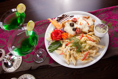 Romantic Italian Meal Stock Image