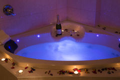 Romantic jacuzzi Stock Images