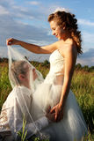 Romantic just married couple Stock Images