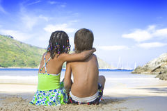 Romantic kids Royalty Free Stock Images