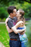 Romantic kiss Stock Images