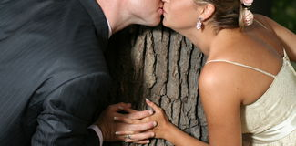 Romantic kiss - love concept Royalty Free Stock Photo