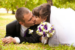 Romantic kiss Royalty Free Stock Images
