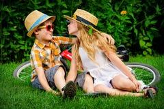 Romantic kiss Stock Images