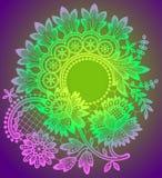 Romantic Lace Circle Frame Stock Image