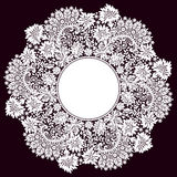 Romantic Lace Circle Frame Royalty Free Stock Photo