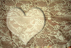 Romantic lace heart card Royalty Free Stock Photos