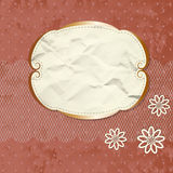 Romantic lacy border with flowers Royalty Free Stock Photography