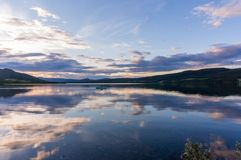 Romantic lake landscape in europe Royalty Free Stock Image