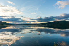 Romantic lake landscape in europe Royalty Free Stock Images