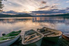 Romantic lake landscape in europe Royalty Free Stock Photos