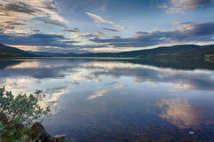 Romantic lake landscape in europe Royalty Free Stock Photo