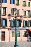 Romantic lantern in Venice Stock Photo