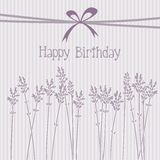 Romantic lavender birthday card, invitation,  back Royalty Free Stock Photo