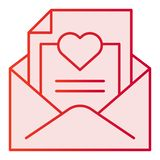 Romantic letter flat icon. Envelope with love letter pink icons in trendy flat style. Mail with heart gradient style. Design, designed for web and app. Eps 10 royalty free illustration