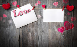 Romantic letter - invitation and copy space. For message Royalty Free Stock Photo
