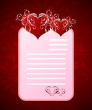 Romantic letter for Valentine's day Royalty Free Stock Photography