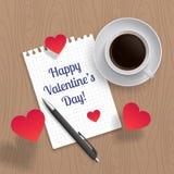 Romantic lettering Happy Valentine`s Day Stock Photo