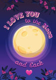 Romantic lettering. Happy valentines day card. Royalty Free Stock Image