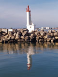 Romantic lighthouse in the south of  France. Romantic lighthouse inGrau du roi harbour in the south of  France Royalty Free Stock Photo