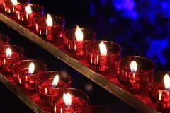 Romantic lighting with candles. Romantic lighting with several candles Stock Images