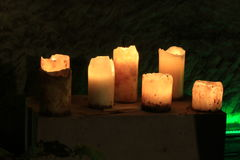 Romantic lighting with candles Stock Photos