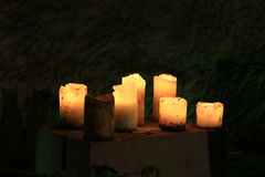Romantic lighting with candles Stock Image