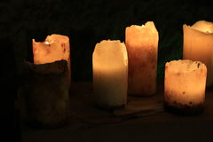 Romantic lighting with candles Stock Photography