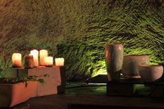 Romantic lighting with candles Royalty Free Stock Images