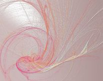 Romantic line art painting in pink spectrum Stock Photo