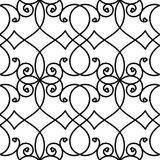 Romantic Lines Hearts Seamless Pattern Stock Photo