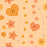 Romantic little buttons seamless pattern Stock Photos