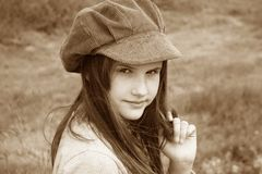 Romantic little girl Stock Image
