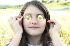 Romantic little girl Stock Photos