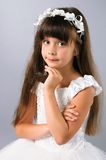 Romantic little girl portrait in studio Stock Photos