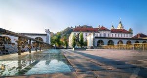 Romantic Ljubljana city center Royalty Free Stock Photography